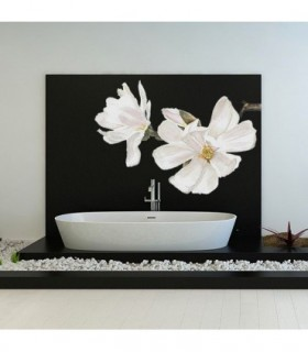 Flor en blanco