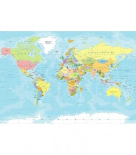 Fotomural Mapa político 66 3P