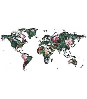 Mapamundi floral